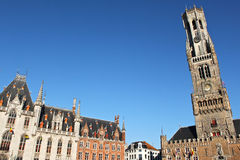 Belfry of Bruges in Belgium Stock Photography