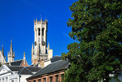 The belfry of Bruges, Belgium Royalty Free Stock Images