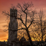 Belfry in Bruges Royalty Free Stock Image
