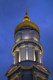Belfry of Cathedral of the Assumption at night. Stock Photography