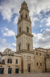 Belfry of the cathedral in Lecce Royalty Free Stock Photos