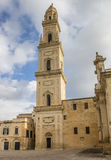 Belfry of the cathedral in Lecce Stock Image