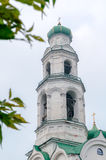 Belfry of cathedral of the Nativity in Kyshtym, Chelyabinsk region Royalty Free Stock Photo