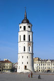 Belfry in Cathedral Square. In the early spring. Vilnius, Lithuania Stock Photography