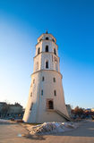 Belfry in Cathedral Square of Vilnius Stock Images