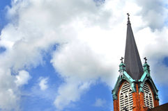 Belfry in Catholic Church Royalty Free Stock Photography