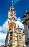 Belfry of the Chamber of Commerce. A historic building in Lille, France. Belfry of the Chamber of Commerce. A historic building in Lille, the Nord department of royalty free stock photography