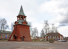Belfry of the church of the Archangel Michael in Mora. Sweden Royalty Free Stock Photography