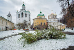 Belfry, Church and Cathedral in Yaroslavl Stock Images