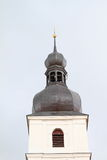 Belfry of a church in Chudenice Royalty Free Stock Image