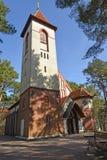 Belfry of the Church of the Holy Monk Seraphim of Sarov Kirch Ruschen. Svetlogorsk, Kaliningrad Region Royalty Free Stock Photos