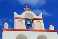 Belfry of a church, Oia, Santorini, Greece Royalty Free Stock Photo