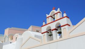 Belfry of a church, Oia, Santorini, Greece Stock Image