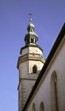 Belfry of church in Regensburg. Bavaria. Germany Stock Photography