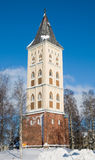 Belfry. Church of the Saint Mary. Lappeenranta.. Belfry of lutheran church in the centre of Lappeenranta. Finland Royalty Free Stock Image