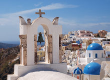 Belfry of church in Santorini Royalty Free Stock Photography