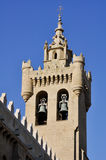 Belfry of church of the Saviour, Zaragoza (Spain) Royalty Free Stock Photo