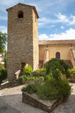 Belfry and church side at Bormes les mimosa Stock Image