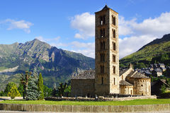 Belfry and church St. Clement of Tahull. Spain Stock Images