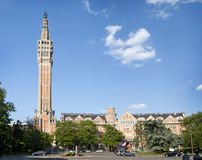 Belfry of city hall of Lille, France. Lille royalty free stock photo