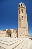 Belfry and cloister door at Lleida cathedral Stock Image