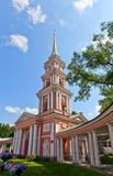 Belfry (1812) of Cross Exaltation cathedral in Saint Petersburg Stock Image