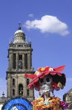 Belfry and death. Death as part of the celebration of the day of the dead, mexico city, mexico stock photography