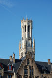 Belfry-detail. Belfry in the old town of Bruges - Belgium Royalty Free Stock Photo