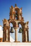 Belfry details of Saint Nicholas church in Pyrgos village, Santorini Royalty Free Stock Photo