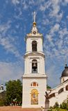 Belfry (1796) of Dormition Cathedral in Dmitrov, Russia Stock Photo