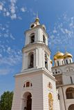 Belfry (1796) of Dormition Cathedral in Dmitrov, Russia Stock Images