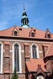 Belfry einer gotischen Kirche in SycÃ-³ w Lizenzfreies Stockbild