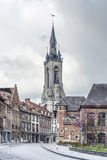 The belfry (French: beffroi) of Tournai, Belgium stock images