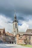 The belfry (French: beffroi) of Tournai, Belgium Stock Image