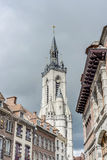 The belfry (French: beffroi) of Tournai, Belgium Stock Photo
