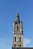 Belfry of Ghent, Belgium in clear day Stock Photos