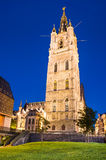 Belfry of Ghent in night, Belgium Royalty Free Stock Photo