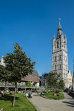 The Belfry in Ghent Stock Images