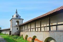 Belfry in Goritsky Monastery of Dormition in Pereslavl-Zalessky, Russia Royalty Free Stock Images