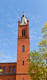Belfry of Holy Trinity church (1886) in Kwidzyn town, Poland Stock Photo