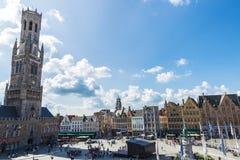 Belfry im Grote Markt in Brügge, Belgien Lizenzfreie Stockfotografie