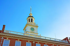 Belfry of Independence Hall in Philadelphia Royalty Free Stock Image