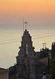 Belfry in Lakones. Corfu  island. Greece Stock Image