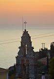 Belfry in Lakones. Corfu  island. Greece Stock Image