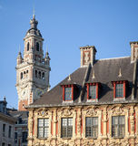 Belfry on the main square of Lille, France Royalty Free Stock Photo