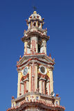 Belfry of the monastery Panormitis, Simi Stock Photo