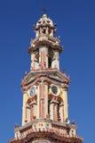 Belfry of the monastery Panormitis, Simi Stock Photo