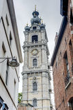 Belfry of Mons in Belgium. Stock Images