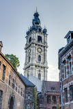 Belfry of Mons in Belgium. Stock Photos