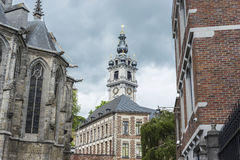 Belfry of Mons in Belgium. Royalty Free Stock Photo